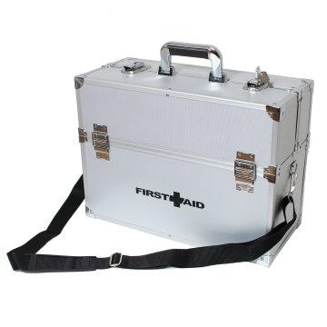 Os primeiros socorros de alumínio dos primeiros socorros dos jogos da emergência da mala de viagem de Alu do veterinário levam o caso