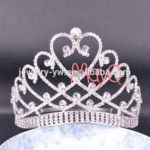 The Newest Style Tall Big Large Pageant Crystal Tiara Crown