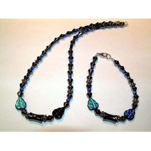 Hematite Set Lightsteelblue Jewelry