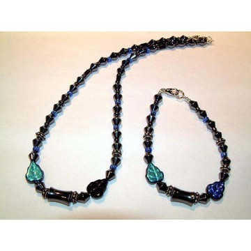 Hématite Set Lightsteelblue Bijoux