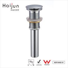 Haijun Latest Products Chrome Plated Bathtub Push Down Water Sink Drain