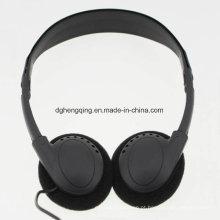 Uso barato de fones de ouvido para classe econômica de aviação
