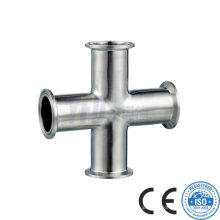 3A Stainless Steel Pipe Fitting Sanitary Cross
