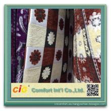 100 de poliéster sofá chenilla tela chenille geométrica tela sofá materia textil