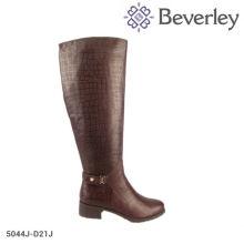 Iron decoration fashion flat heel womenboot fashion leather winter riding boots fashion