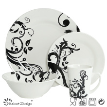 Classic Whole Sale Porcelain with Decal Dinner Set 16PCS