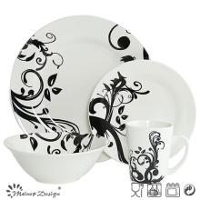 Classic Whole Sale Porcelain with Decal Dinner Set 16PCS