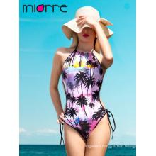Miorre Neck Tie Women One Piece Swimwear