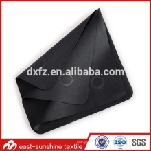 Personalized Factory Embossed Microfiber Glasses Black Cleaning Cloth