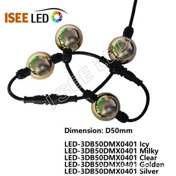 DMX512 D50mm Led RGB Ball Light