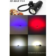 Unterwasser LED-Leuchten für kommerzielle Tauchen, 100m wasserdichte LED-Video-Licht, Unterwasser-Kamera Licht
