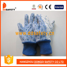 Цветок хлопка сад перчатки с мини-точек на ладони Dgs306