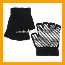 Slip-Free Texturizing Beads Black Fingerless Acrylic Yoga Gloves