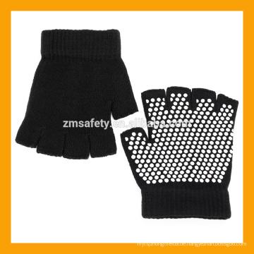Slip-Free texturierende Perlen schwarz fingerlose Acryl Yoga Handschuhe