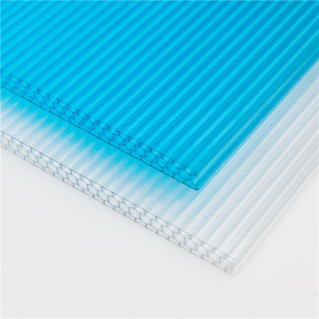 Polycarbonate hollow sheet with UV coated