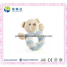 Certification Approved Cute Plush Baby′s Handbell Bear Toy