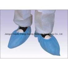 Couverture non-tissée imperméable jetable de chaussure de l'hôpital PP / PE / CPE Kxt-Sc29