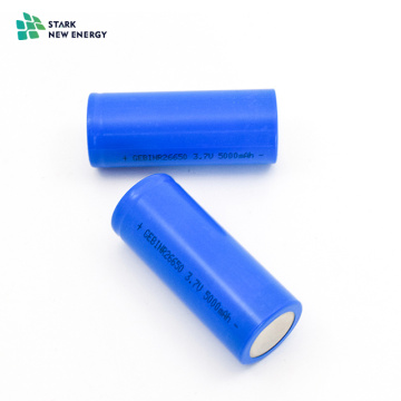 Cellule de batterie au lithium Li-ion 3.7V 5000mAh 26650