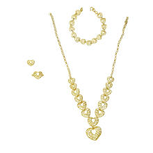 Conjunto de joias 22 K Heart Shaped Curvy