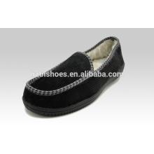 Good quality men's moccasin slipper great fitting men shoe corduroy upper indoor slipper