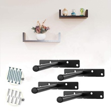 Heavy Duty Solid Steel Blind Floating Shelf Bracket