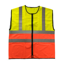 Two tone colors reflective safety vest with EN20471 reflective tape