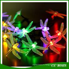 Рождественские декоративные елки светодиодные полосы света Стрекоза огни строки красочные Солнечной строки лампы 20LED/водить 30led для фестиваля