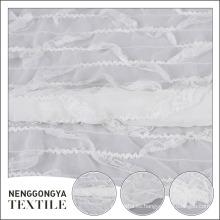 Tela de gasa de crepe blanca decorativa popular popular vendedora del poliester