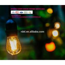 ЛСТ-180 строка огни с ясной лампы, перечисленный UL Патио света, вися крытый/Открытый строка свет