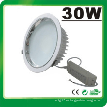 Lámpara LED Dimmable 30W LED Down Luz LED Luz