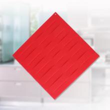 Tapete Slicone em Forma de Quadrado Vermelho