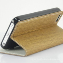 Nueva elegante PU cuero teléfono móvil cubierta para el caso de iPhone5C