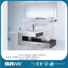 Mirrored Vanity Stainless Steel Bathroom Furniture with Competitive Price