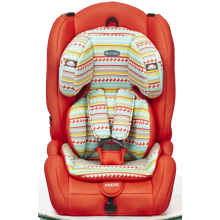 Baby car seat with orange-black cover