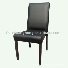 Black Leather and Tube Dining Chair (YC-F69)