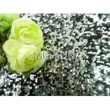 POLY MESH WITH 5MM SEQUIN EMBROIDERY 50 52""