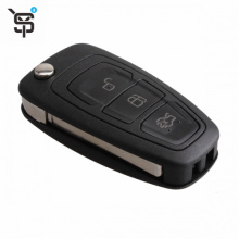 Factory price black best car key 3 button folding car remote key for Ford with 4D63 chip 433 MHZ YS100150