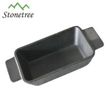 Pflanzenöl Gusseisen Rechteck Mini Bratpfanne mit Doppelgriff / Bratpfanne