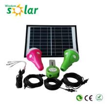 Alta calidad CE 300 lúmenes portátiles led sistema de iluminación solar, sistema casero solar, sistema solar