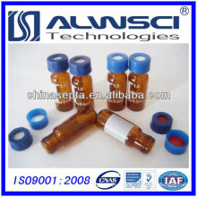 2ml 9-425 amber glass screw thread hplc vial with label