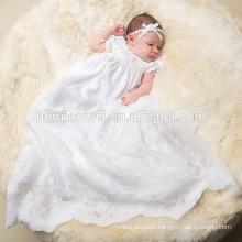 White Vintage Charm Lace Flowing Long Christening Fairy Dress Soutache baptism Dress baby girl dress patterns