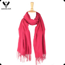 Mulheres Moda All-Match Plain Viscose Checked Shawl Scarf