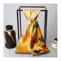 16MM 89 * 89CM lenço de seda 100% pura para mulheres