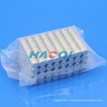 Revêtement magnétique de cylindre 8X5mm avec nickel