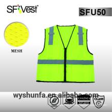 Gilet de sécurité à haute visibilité sangle à haute visibilité gilet de sécurité réfléchissant moto vêtements vis vis 100% tissu polyester