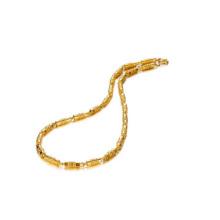 Cobre chapeamento cadeia de bambu, 18 k banhado a ouro cubano link cadeia de jóias