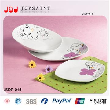 Fábrica directamente al por mayor 30PCS forma cuadrada juego de vajilla de cerámica