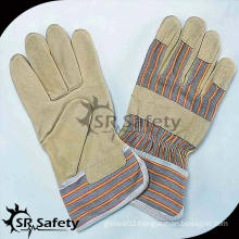SRSAFETY Cheap Industrial pig skin leather gloves for working