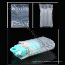 Bolsa de plástico transparente almofada de ar para o pacote de proteção