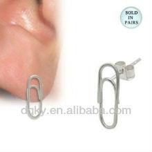 Grampo de papel de aço inoxidável em Ear Studs
